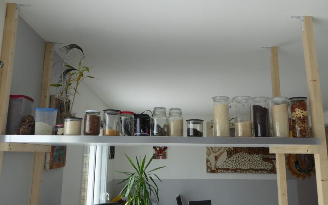 Ma cuisine après 6 mois dans ma démarche vers le zéro déchet.