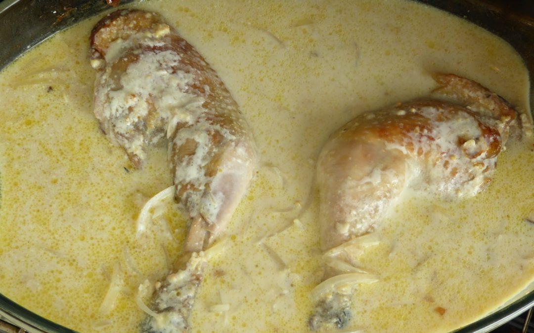 Cuisses de poulet sauce moutarde