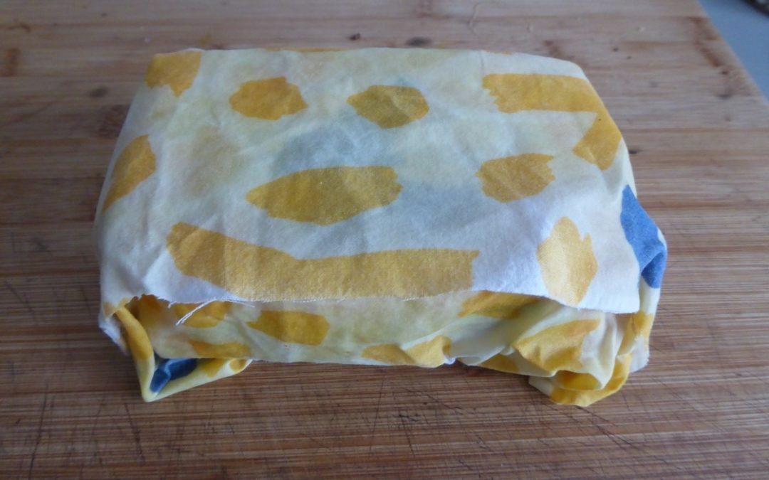 Tuto bee Wrap ou tissus enduit à la cire d'abeille