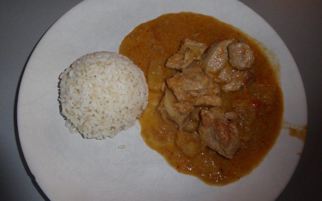 Filet mignon sucré salé au curry.