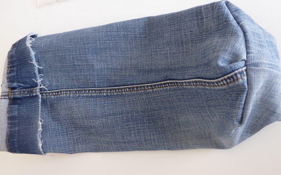 faire un sac à pain en jean