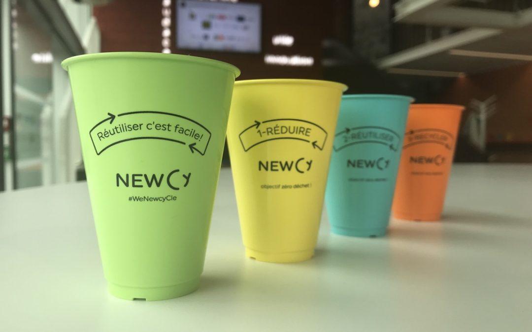 Newcy, la première entreprise de gobelets réutilisables adaptés aux distributeurs automatiques