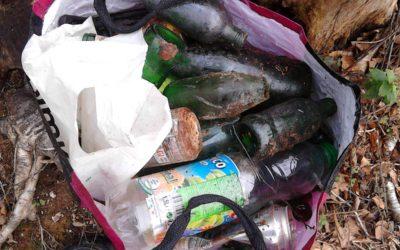 Encore beaucoup de déchets ramassés lors de nos promenades du week-end