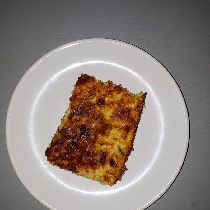 Quiche sans pâte aux poireaux et aux carottes sans gluten
