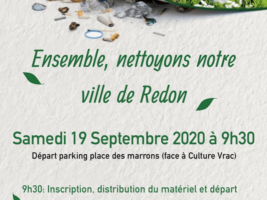 Nettoyage de la ville de Redon 2020